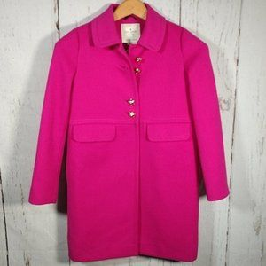 Kate Spade Pink Snapdragon Bell Coat Small